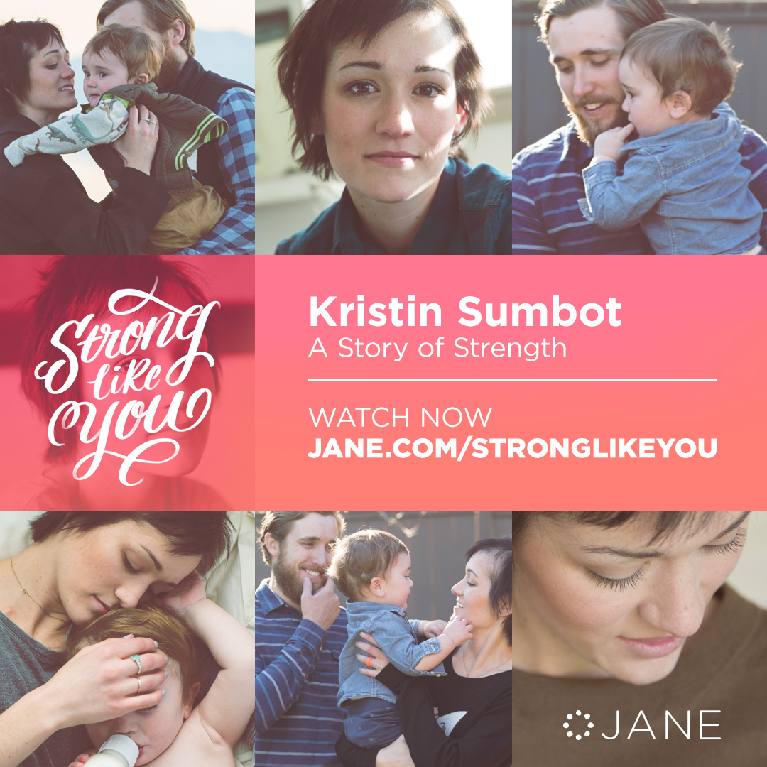 """After 5 years of remission, Kristin hoped she'd never again hear """"you have cancer,"""" especially not while holding her new baby boy. But despite receiving a terminal diagnosis, Kristin is finding joy as she fights for her life and precious moments with her family. #StrongLikeYou"""